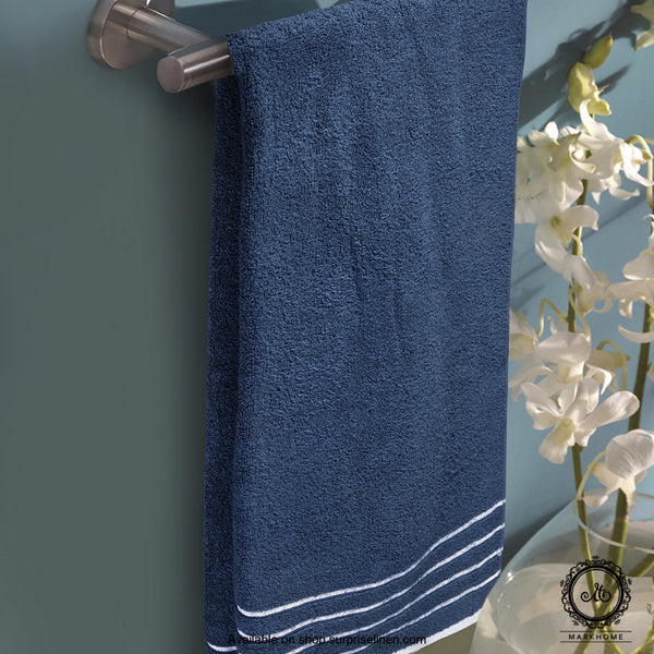 Mark Home - 100% Cotton 500 GSM Zero Twist Anti Microbial Treated Simply Soft Ladies Towel (Navy)