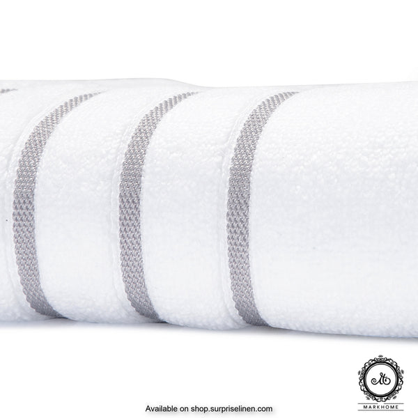 Mark Home - 100% Cotton 500 GSM Zero Twist Anti Microbial Treated Simply Soft Ladies Towel (White)