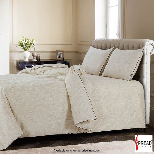 Spread Home - Grain De Glace 400 Thread Count Duvet Cover (Sand)