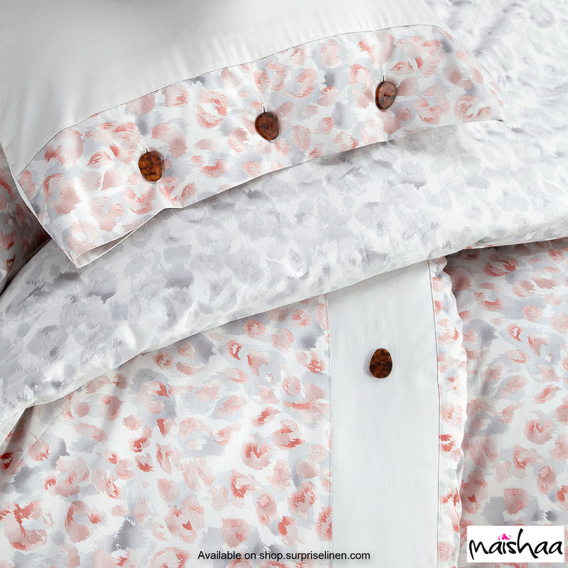 Maishaa - Odilia Collection Sheena Duvet Cover (Grey & Red)