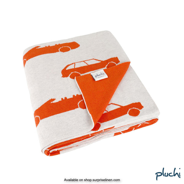 Pluchi - Swanky Cars Cotton Knitted Kids AC Blanket (Melange)