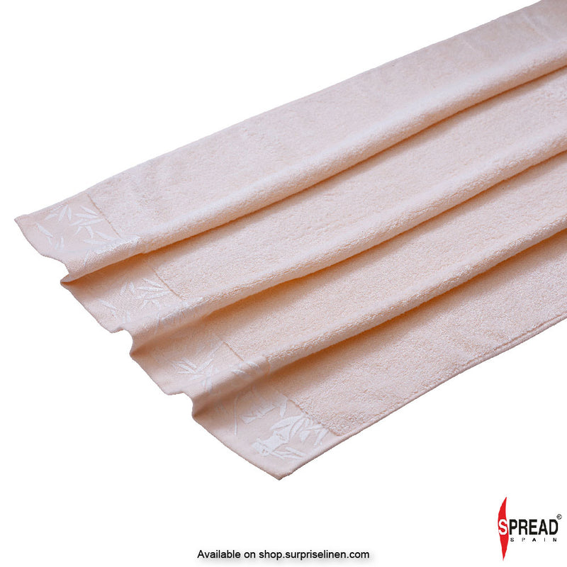 Spread Home - Bamboo Towel - Peach (High Absorbent & Super Soft 360 GSM)