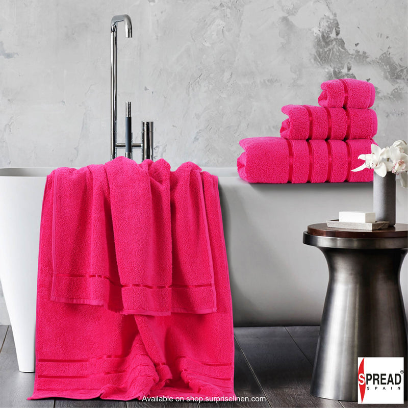 Spread Home - The Roman Bath - Fuchsia Towel (Ultra Soft Pure Cotton 600 GSM)