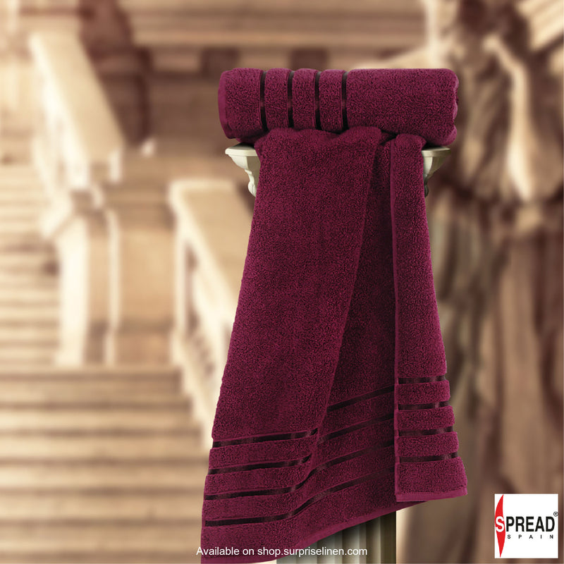 Spread Home - The Roman Bath - Marsala Towel (Ultra Soft Pure Cotton 600 GSM)