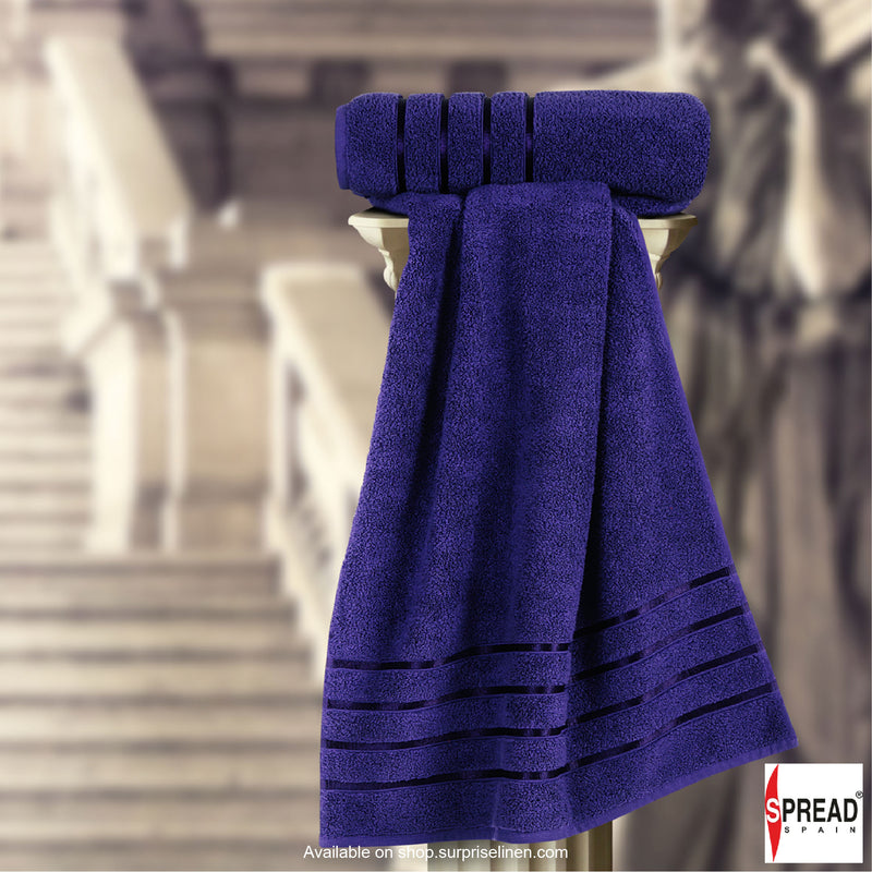 Spread Home - The Roman Bath - Navy Blue Towel (Ultra Soft Pure Cotton 600 GSM)