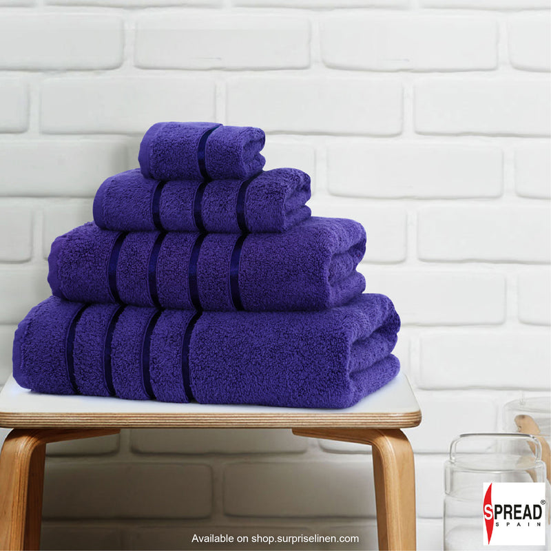 Spread Home - The Roman Bath - Navy Blue Towel Set (Ultra Soft Pure Cotton 600 GSM)