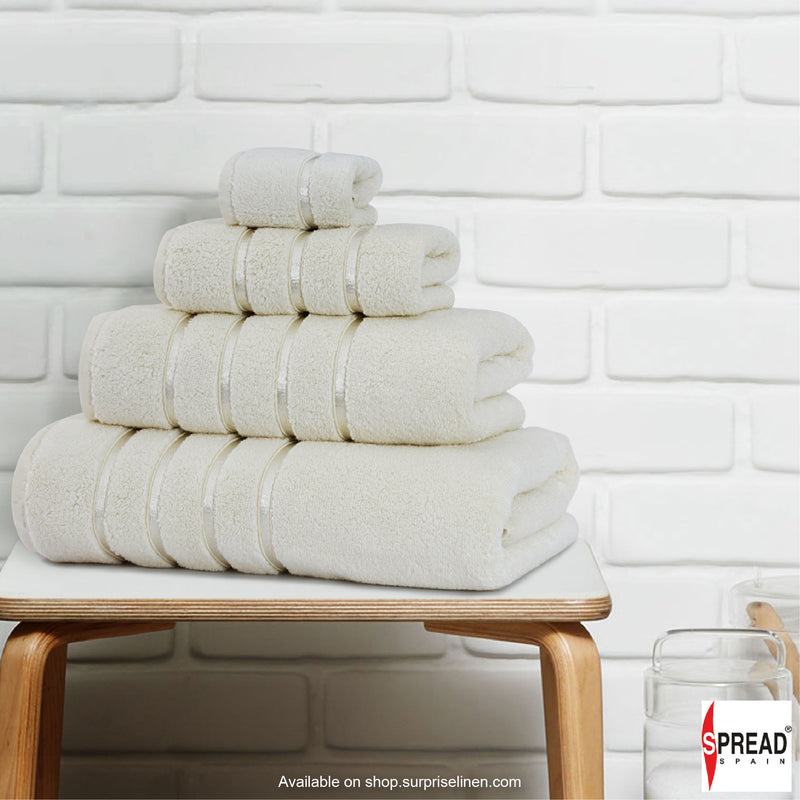 Spread Home - The Roman Bath - Off White Towel (Ultra Soft Pure Cotton 600 GSM)