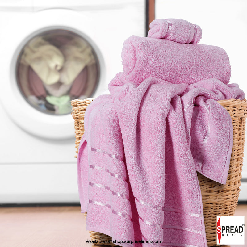 Spread Home - The Roman Bath - Pink Towel (Ultra Soft Pure Cotton 600 GSM)