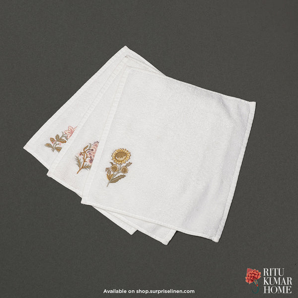 Ritu Kumar Home - Face Towel Set of 3 (Off White)