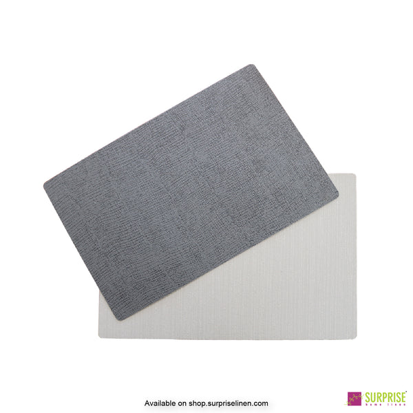 Surprise Home - Papel Table Mats 6 pc Set (Textured Grey)