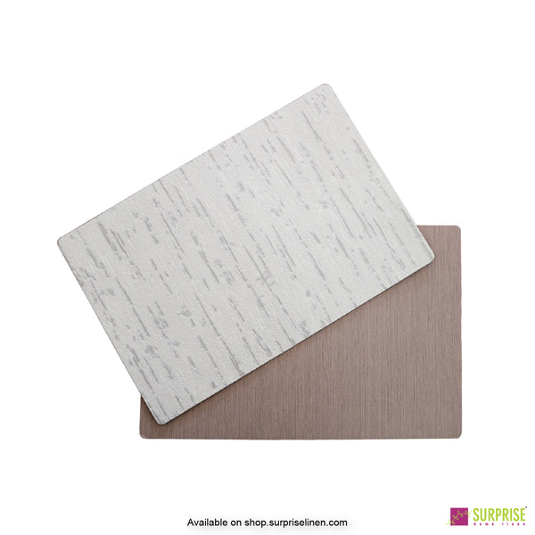 Surprise Home - Papel Table Mats 6 pc Set (Textured Ivory)