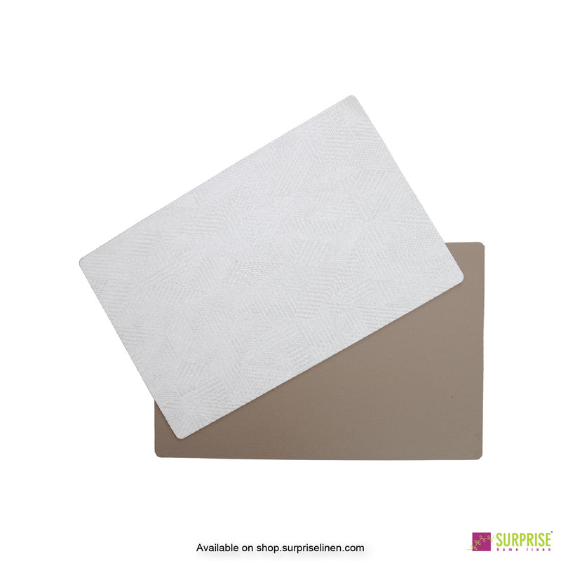 Surprise Home - Papel Table Mats 6 pc Set (Textured Off White)