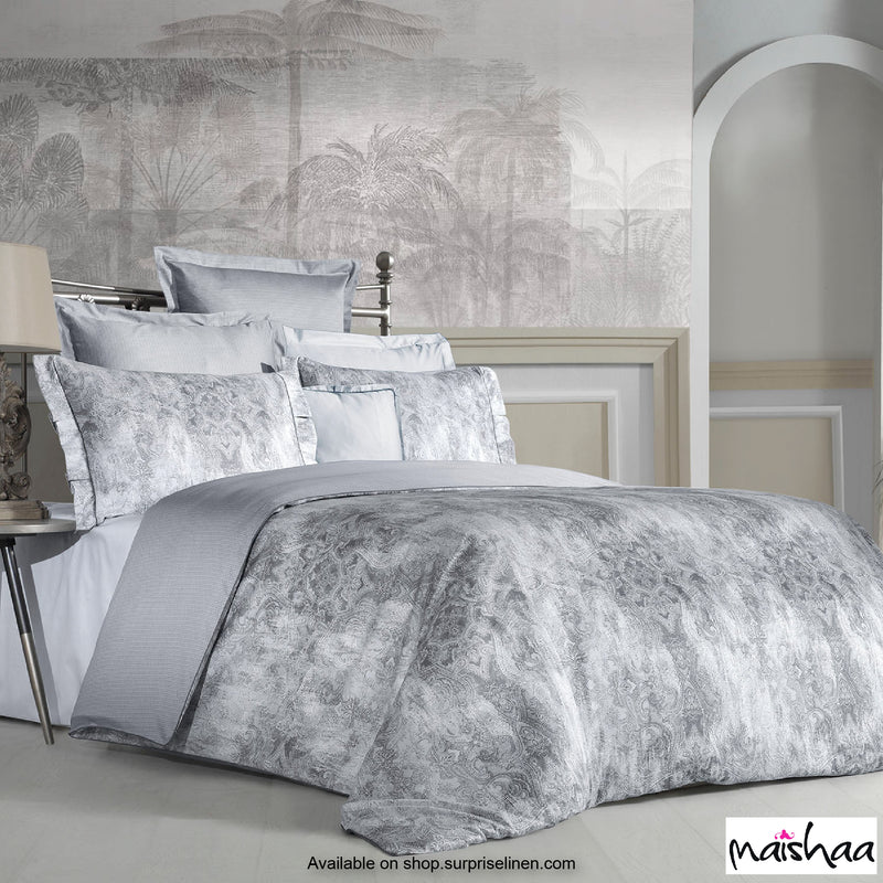 Maishaa - Odilia Collection Tripoli Bed Sheet (Silver Grey)