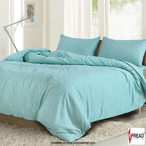 Spread Home - Grain De Glace 400 Thread Count Duvet Cover (Turquoise)