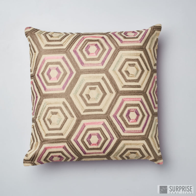 Surprise Home - Aari Hive Cushion Cover (Blush)