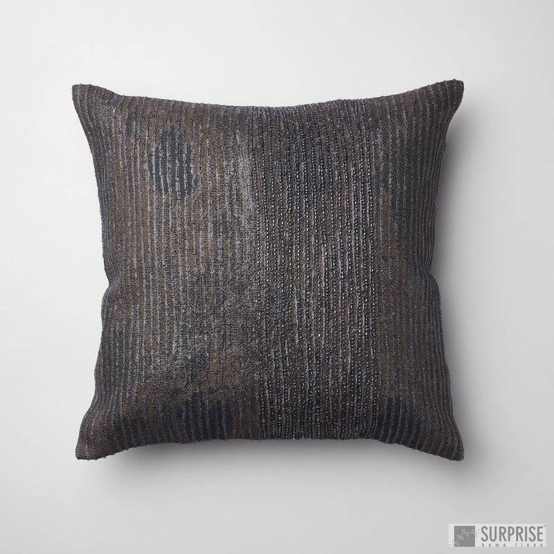 Surprise Home - Beaded Rain Cushion Covers (Dark Grey)