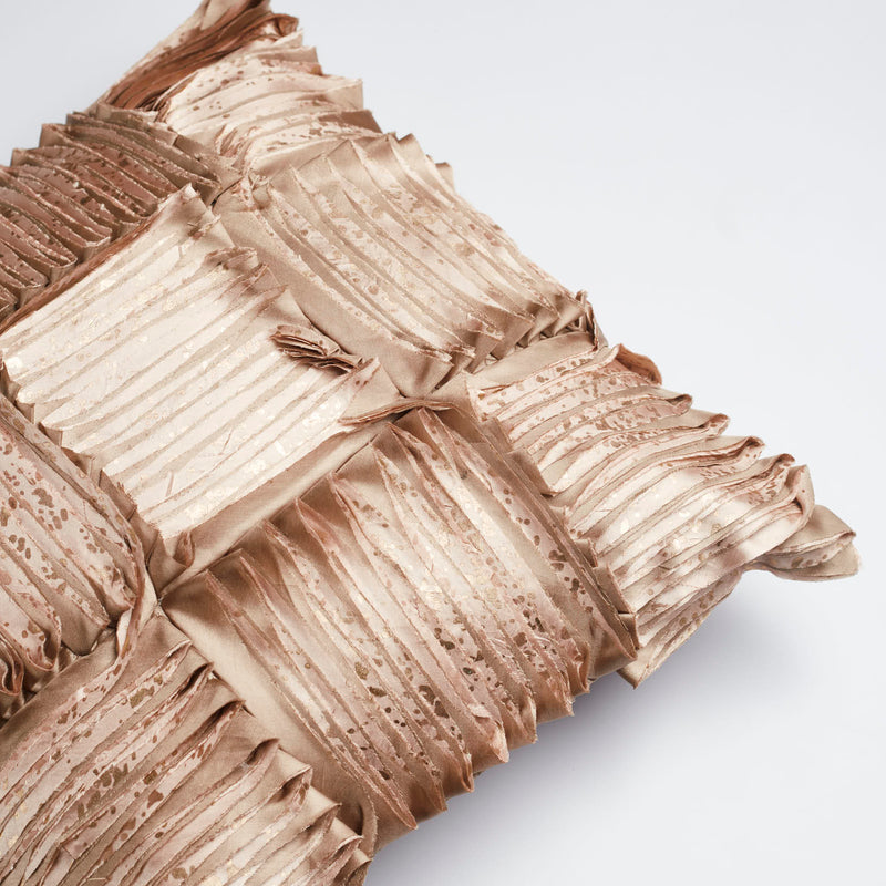 Surprise Home - Silk Pleats Cushion Covers (Copper)