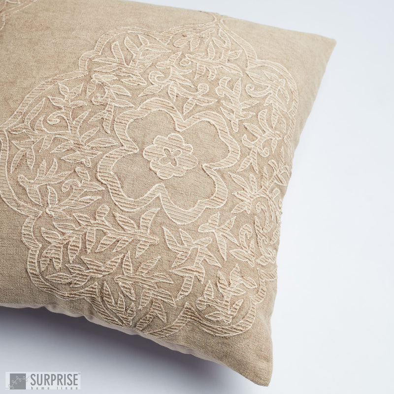 Surprise Home - Damask Stonewash Cushion Covers (Cream)