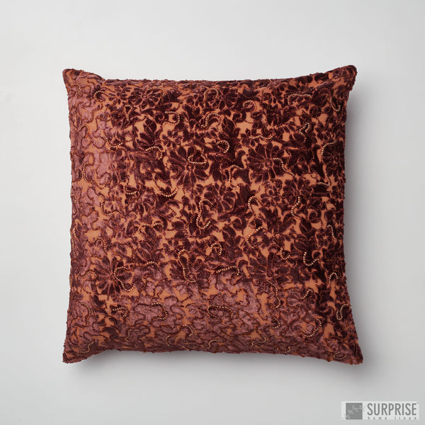 Surprise Home - Beaded Brasso Cushion Covers (Dark Brown)