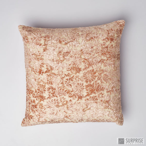 Surprise Home - Beaded Brasso Cushion Covers (Blush Pink)