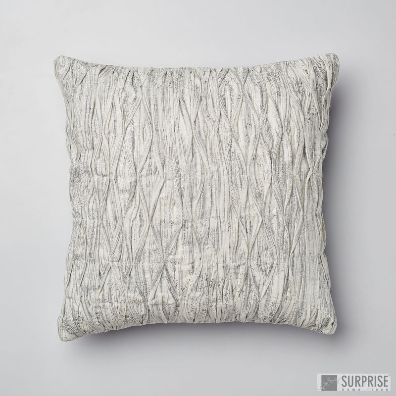 Surprise Home - Wave Textured Cushion Cover (Silver)