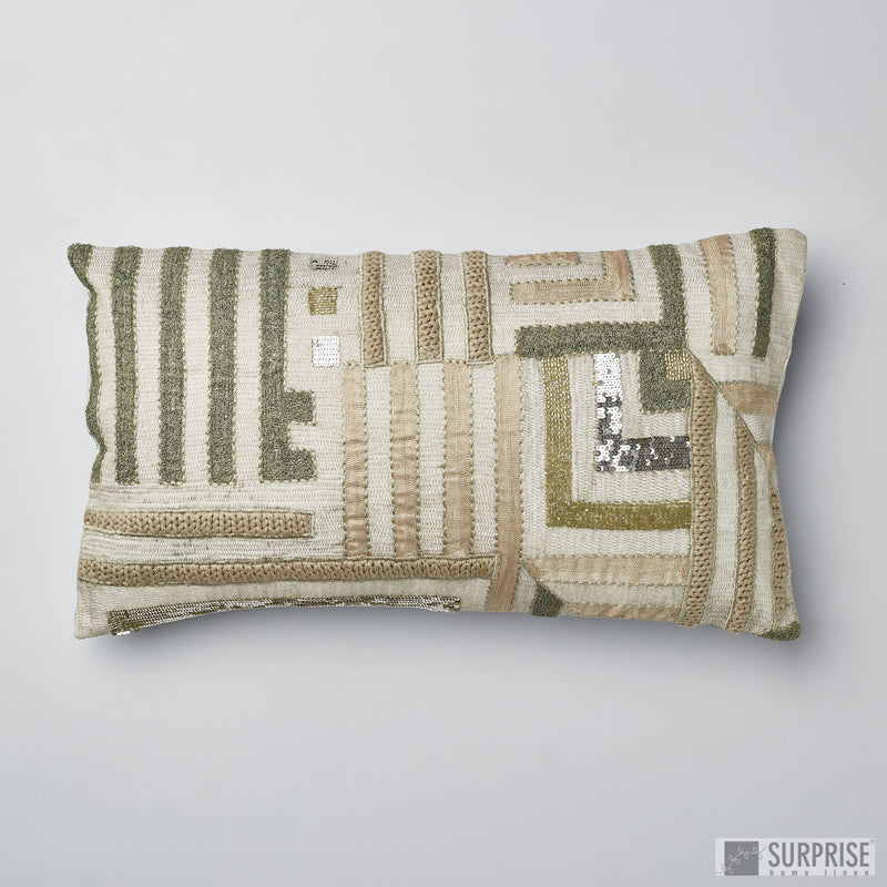 Surprise Home - Geometric Designed Cushion Covers (Green)