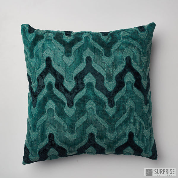 Surprise Home - Velvet Wave Cushion Covers (Bottle Green)