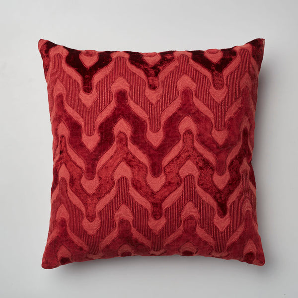 Surprise Home - Velvet Wave Cushion Covers (Maroon)