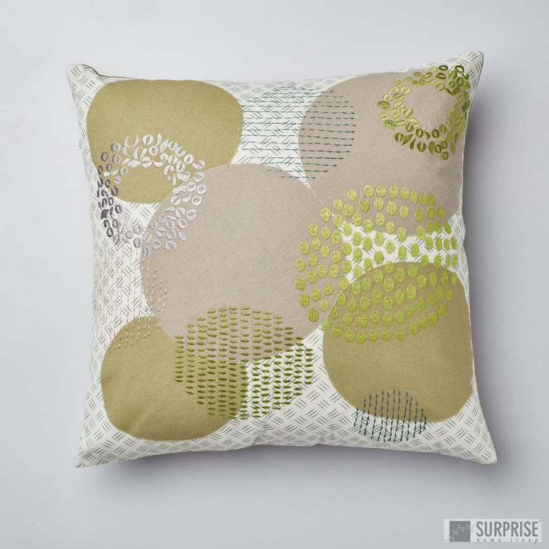 Surprise Home - Circles Cushion Covers (Green)