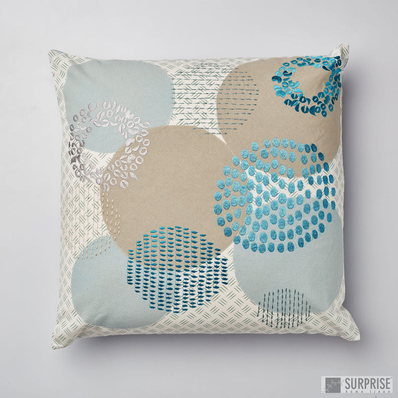 Surprise Home - Circles Cushion Covers (Icy Blue)