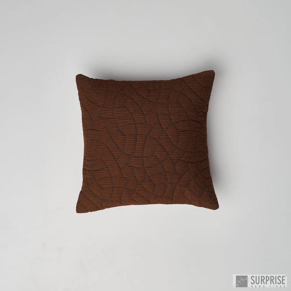 Surprise Home - Circle Trellis 30 x 30 cms Cushion Covers (Brown)