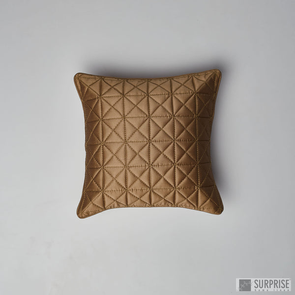 Surprise Home - Grid 40 x 40 cms Cushion Covers (Brown)