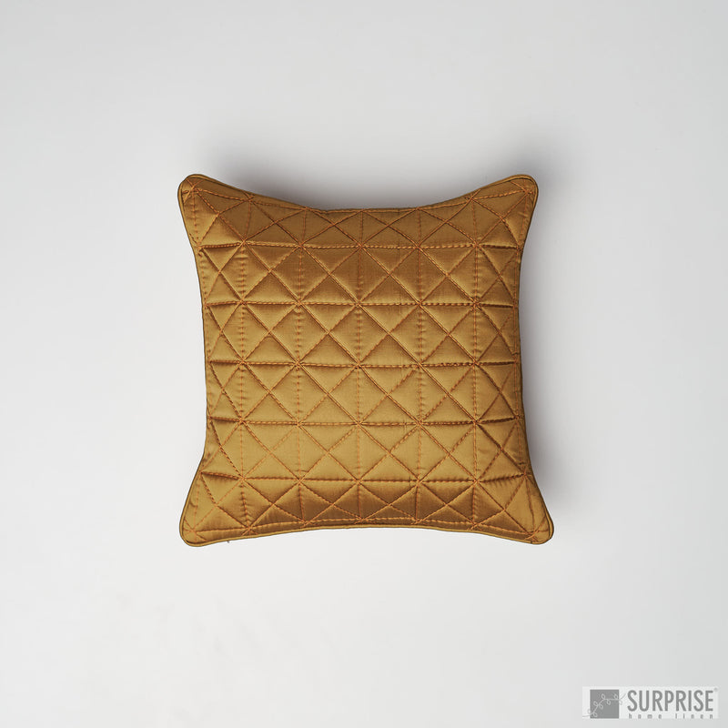 Surprise Home - Grid 30 x 30 cms Cushion Covers (Copper)