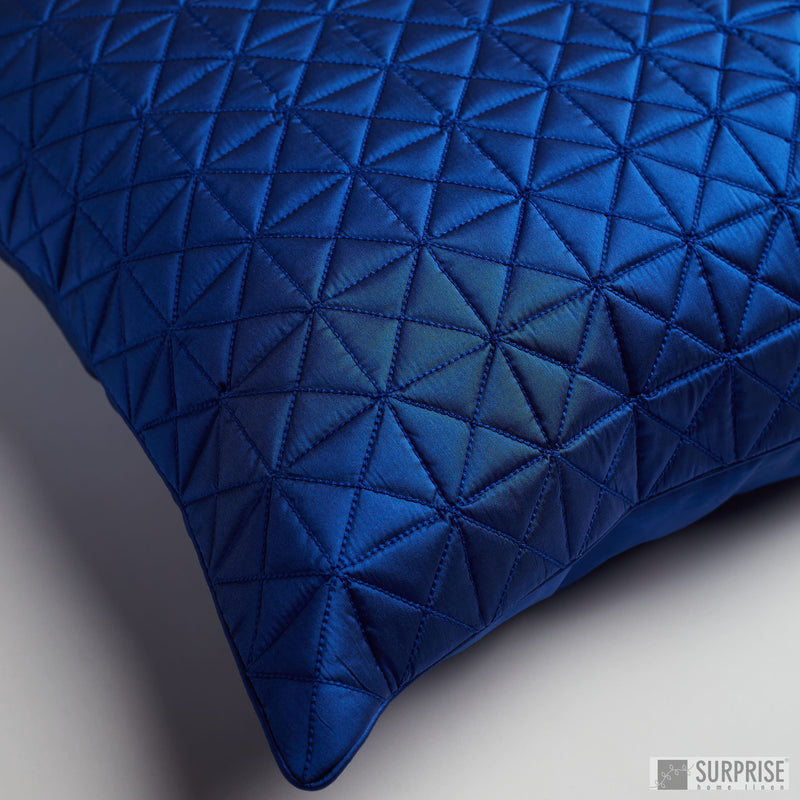 Surprise Home - Grid 60 x 60 cms Cushion Covers (Royal Blue)