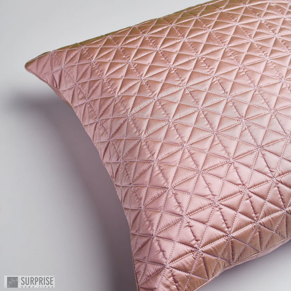 Surprise Home - Grid 60 x 60 cms Cushion Covers (Blush Pink)