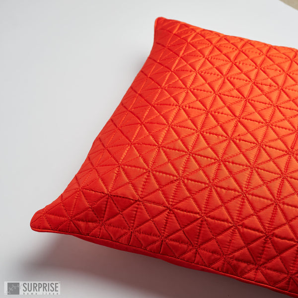 Surprise Home - Grid 60 x 60 cms Cushion Covers (Rust)