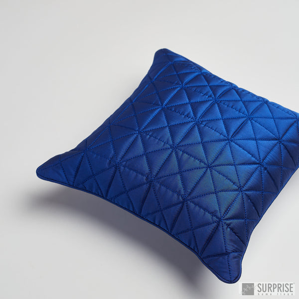 Surprise Home - Grid 30 x 30 cms Cushion Covers (Navy Blue)