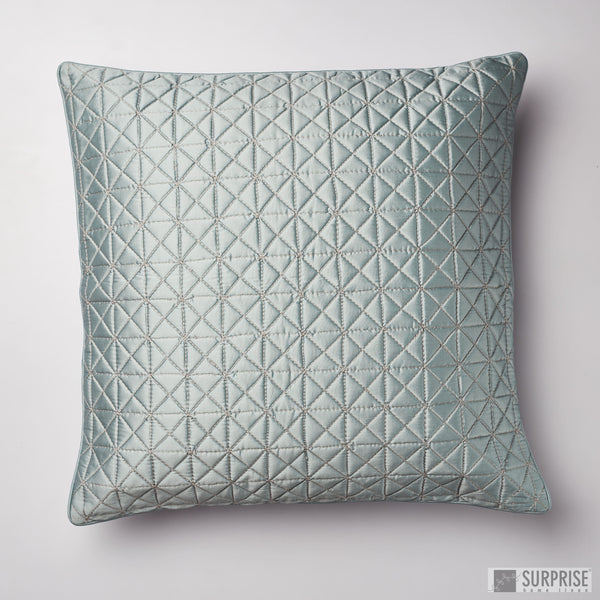 Surprise Home - Grid 60 x 60 cms Cushion Covers (Grey)