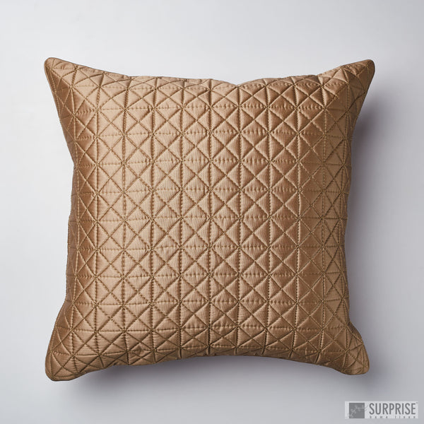 Surprise Home - Grid 60 x 60 cms Cushion Covers (Copper)