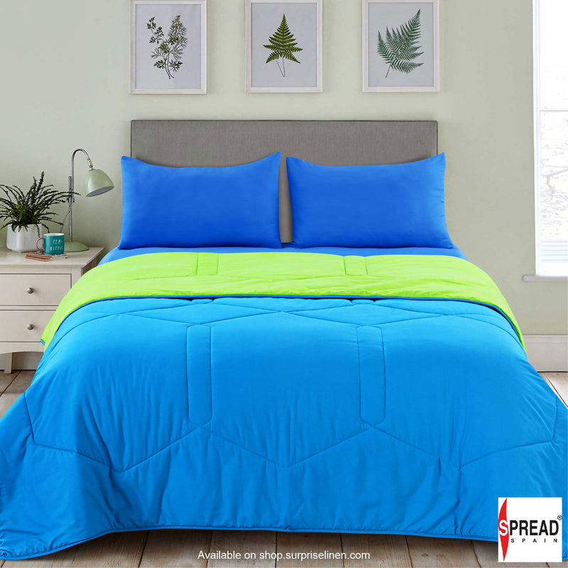 Spread Home - Vibgyor Soft and Light Weight Microfiber Reversible AC Quilt/Comforter (Lime Green)