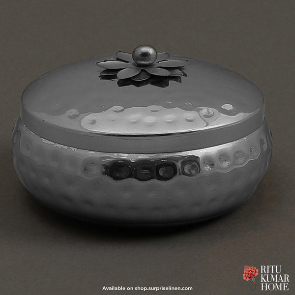 Ritu Kumar Home - Crimson Metal Votive (Silver Grey)