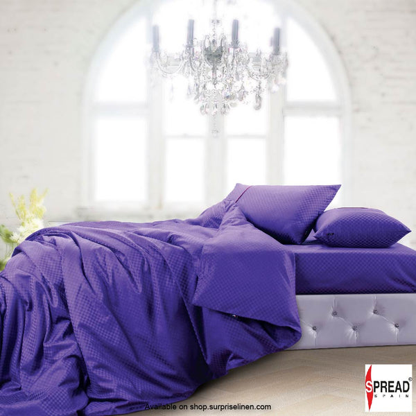 Spread Home - Oxford Street 400 Thread Count Duvet Cover (Dark Purple)