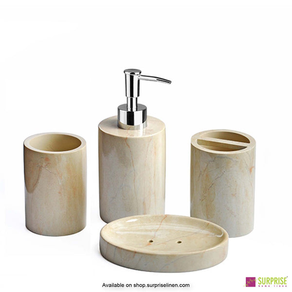 Surprise Home - Recto Series 4 Pcs Bath Set (Off White)