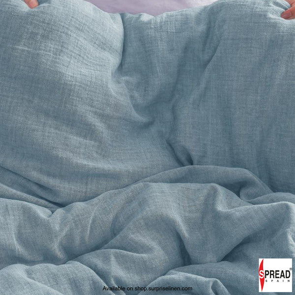 Spread Home - Japanese Washed Cotton Collection 100% Cotton Duvet Cover (Mist Blue)