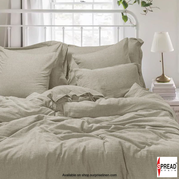 Spread Home - Japanese Washed Cotton Collection 100% Cotton Duvet Cover (Beige)