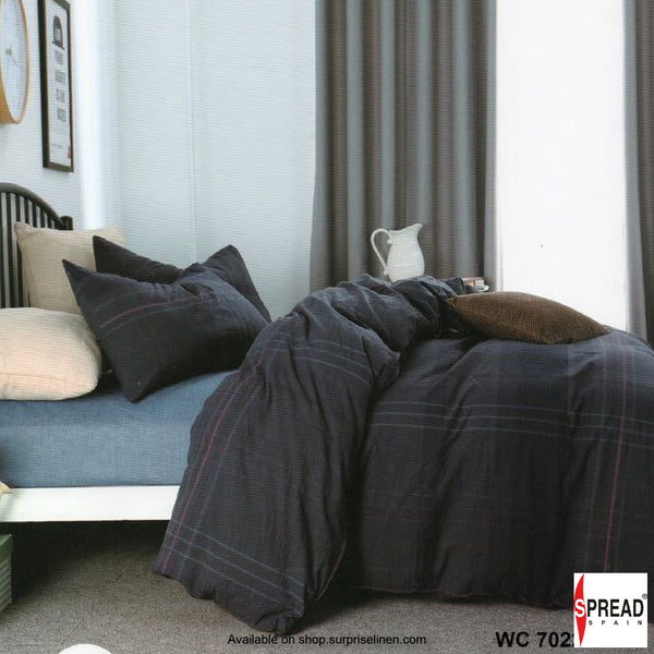 Spread Home - Japanese Washed Cotton Collection 100% Cotton Duvet Cover (Checkered Charcoal)