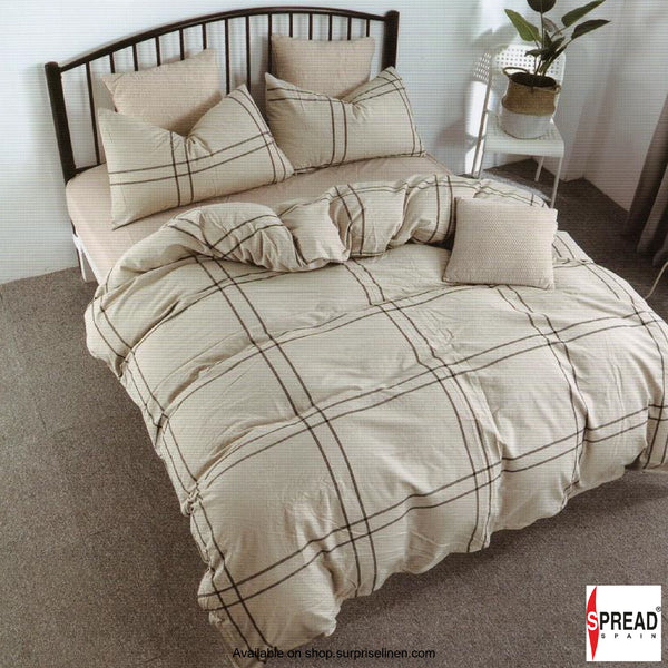 Spread Home - Japanese Washed Cotton Collection 100% Cotton Duvet Cover (Copper Checks)