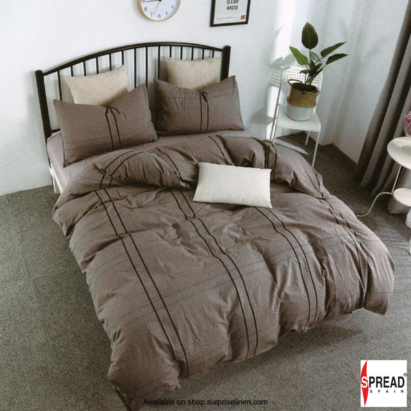 Spread Home - Japanese Washed Cotton Collection 100% Cotton Duvet Cover (Dark Copper)