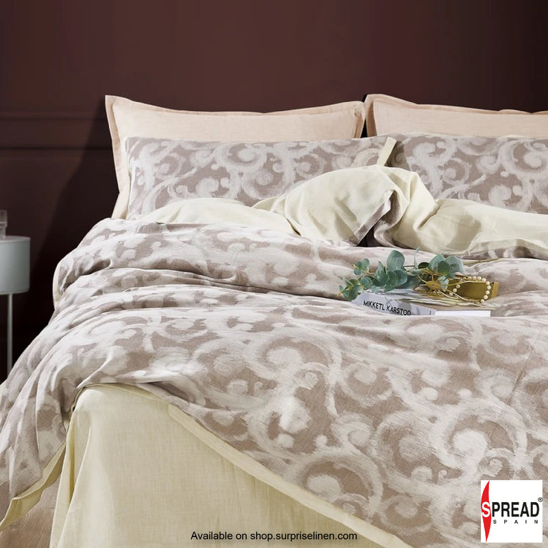 Spread Home - Japanese Washed Cotton Collection 100% Cotton Duvet Cover (Damask Beige)