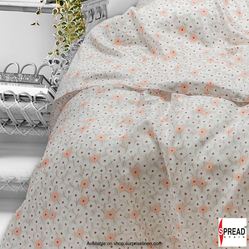 Spread Home - Prints Collection 400TC Bedsheet Set (Off White)